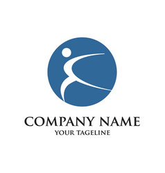 Symbol design logo man icon template vector