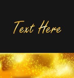 text gold background vector image vector image