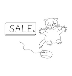 the cat hunts for sales vector image
