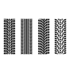 tire tracks patterns collection vector image