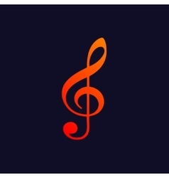 Treble clef background vector image