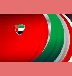 Uae flag red background vector