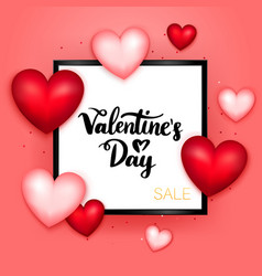valentines day sale postcard template vector image