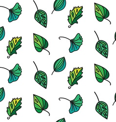 Vintage leaves seamless pattern vector