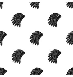 War bonnet icon in black style isolated on white vector