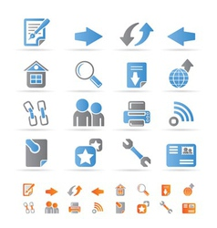 website navigation and computer icons vector image