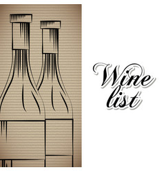 Wine list drink card vector