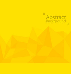 yellow orange technology background triangle vector image