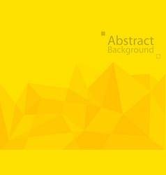 yellow orange technology background triangle vector image