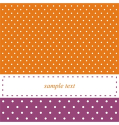 Birthday card or party invitation with white dots vector image vector image