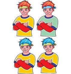 cartoon sports vector image