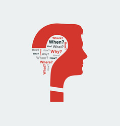 concept of question vector image
