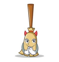 Devil broom character cartoon style vector
