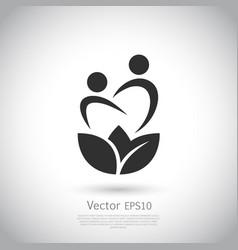 lotus flower yoga logo design vector image