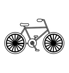 bicycle vehicle icon vector image vector image