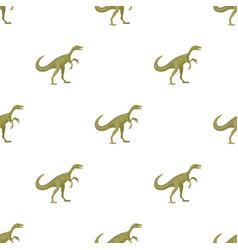 Dinosaur gallimimus icon in cartoon style isolated vector