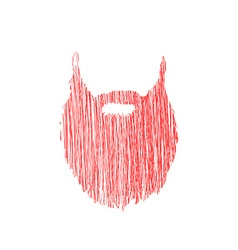 Hand drawn scribble Beard isolated on white vector image vector image