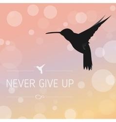 Philosophical black hummingbird vector image