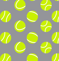 Tennis ball seamless pattern background vector image vector image