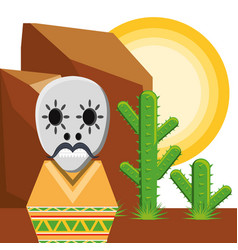traditional mexican sugar skull vector image
