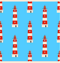color lighthouse seamless background pattern vector image vector image