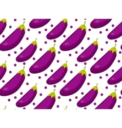 Eggplant seamless pattern Aubergine endless vector image vector image