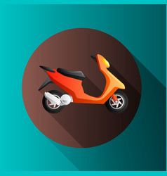flat design moto icons vector image