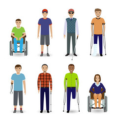 invalid people concept group of eight different vector image vector image