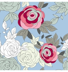 pink peony flower seamless pattern vector image vector image