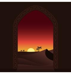 Arabian sunset vector