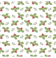 Christmas mistletoe seamless vector
