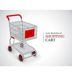 Empty shopping cart vector