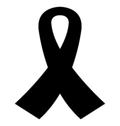 icon mourning ribbon vector image