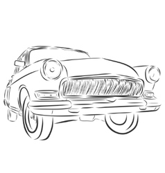 Retro car or Vintage on a white background vector image