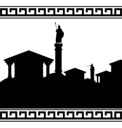 silhouette of ancient city vector image