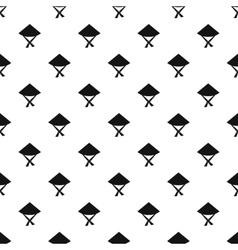 Vietnamese hat pattern simple style vector image