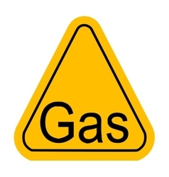 Warning icon of Gas in yellow triangle vector image vector image