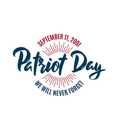 911 american patriot day background circle badge vector image
