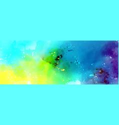 Abstract surface bright color splash watercolor vector