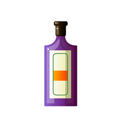 alcoholic drink in a beautiful glass bottle of vector image