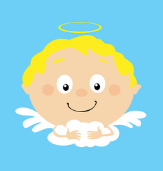 angel in heaven icon face simple flat design vector image