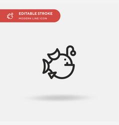 Anglerfish simple icon symbol vector