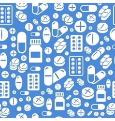 Background made from pills and capsules seamless vector image