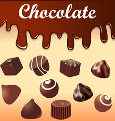Background with streaks of chocolate vector