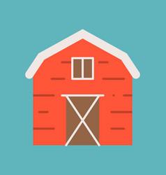 Barn icon flat design vector