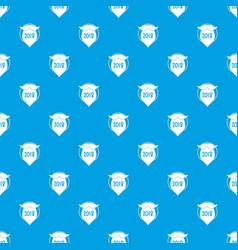 beard pattern seamless blue vector image