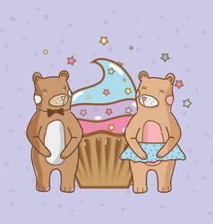 birthday and bears vector image