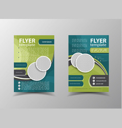 Brochure design flyer template vector