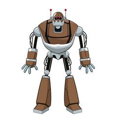 Brown robot electric mechanical vector