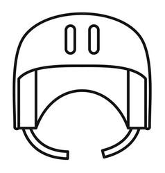 Canoe helmet icon outline style vector